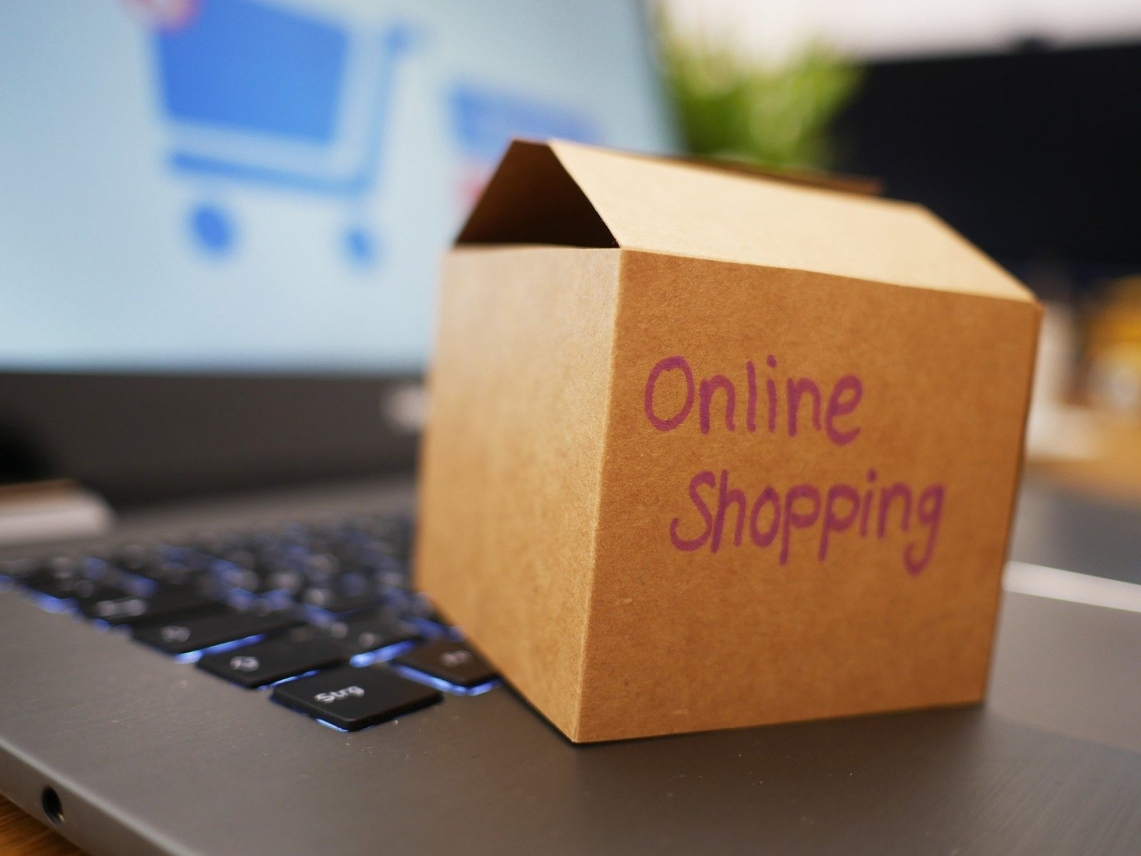 online shopping process on laptop